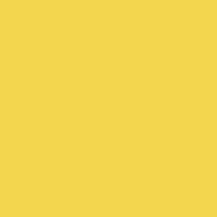 Fresh Pineapple paint color DE5411 #F3D64F