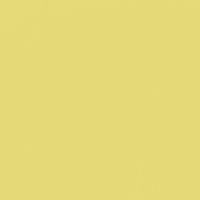 Lustrous Yellow paint color DE5472 #E6DA78