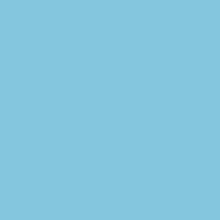 Winter Chime paint color DE5828 #83C7DF