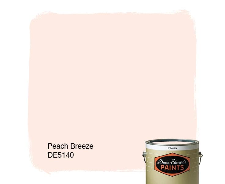 Peach Breeze paint color DE5140