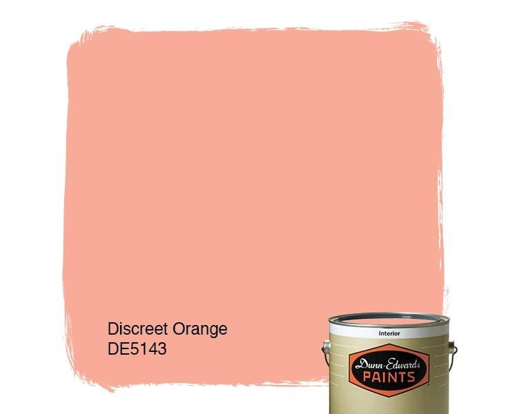 Discreet Orange paint color DE5143