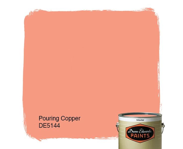 Pouring Copper paint color DE5144