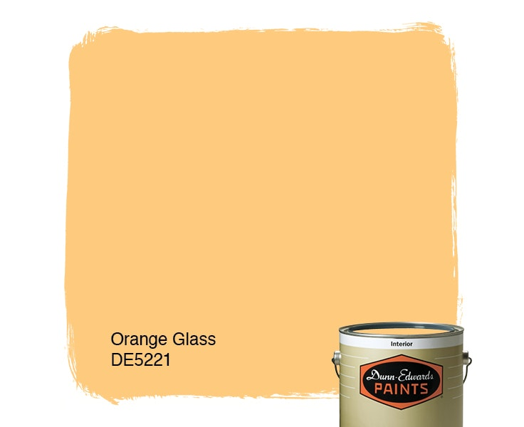 Orange Glass paint color DE5221