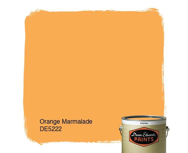 Orange Marmalade paint color DE5222