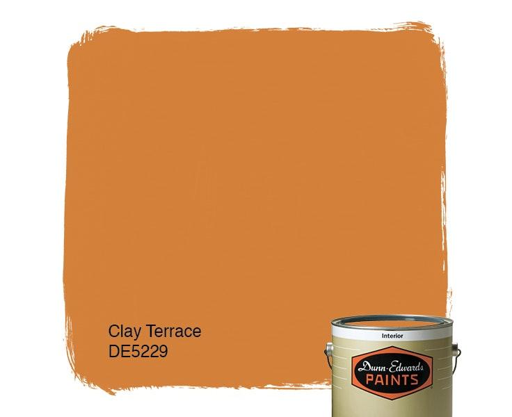 Clay Terrace paint color DE5229