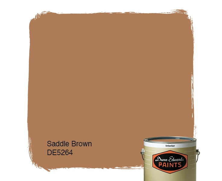 Saddle Brown paint color DE5264