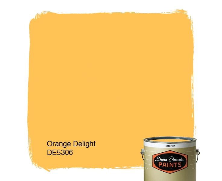 Orange Delight paint color DE5306