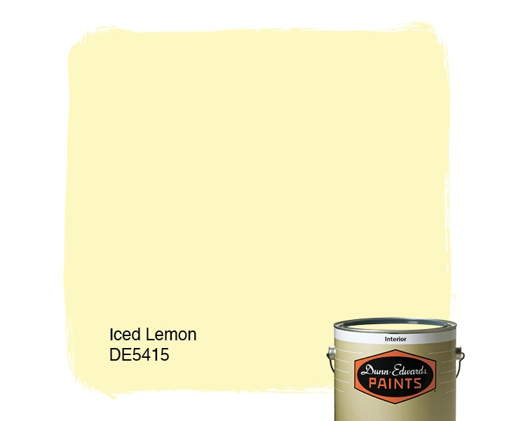 Iced Lemon paint color DE5415