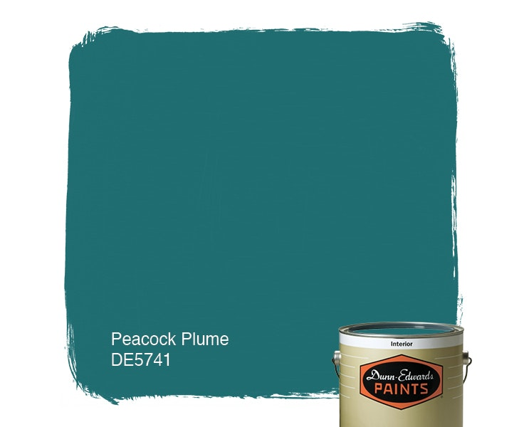 Peacock Plume paint color DE5741