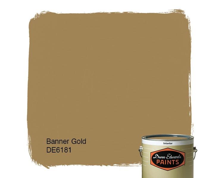 Banner Gold paint color DE6181