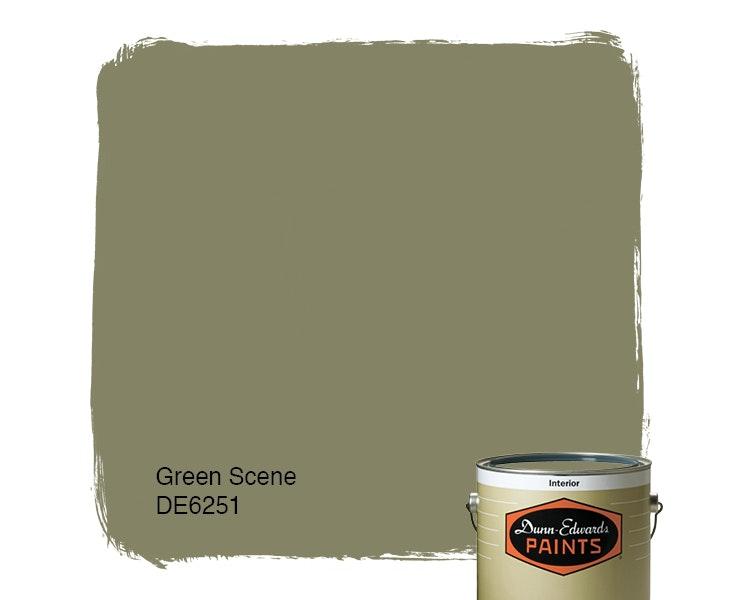 Green Scene paint color DE6251