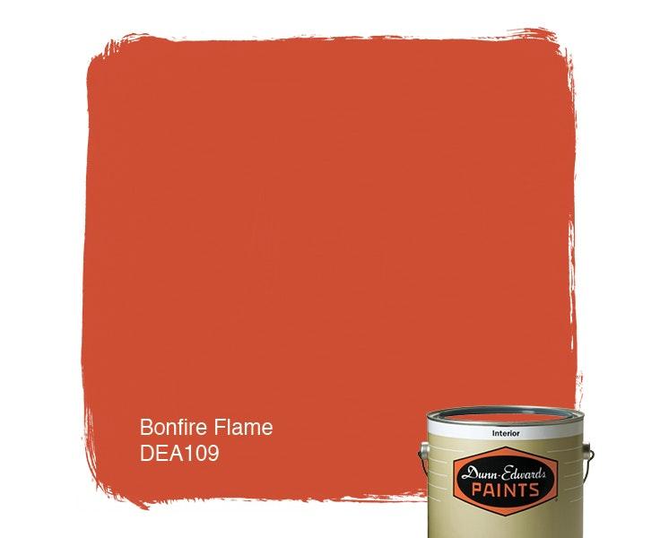 Bonfire Flame paint color DEA109