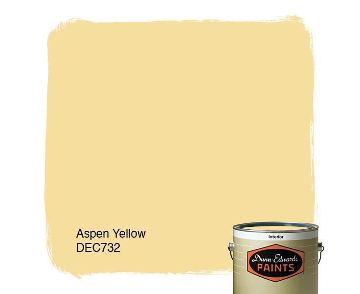 Aspen Yellow paint color DEC732