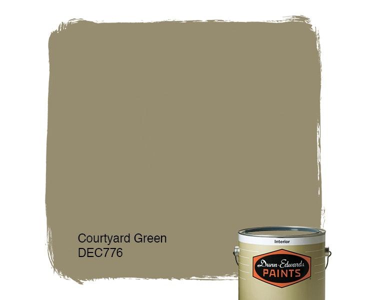 Courtyard Green paint color DEC776