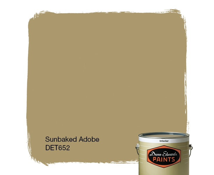 Sunbaked Adobe paint color DET652