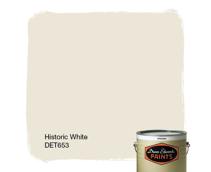 Historic White paint color DET653